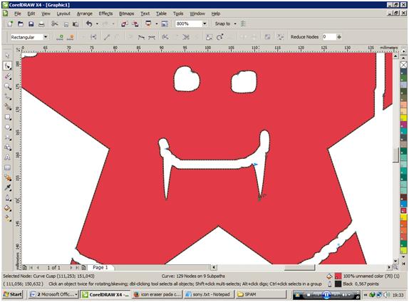 Cara Penggunaan Eraser Pada Coreldraw X4 Mandaya Edu