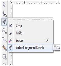 Image result for virtual segment delete IN COREL DRAW